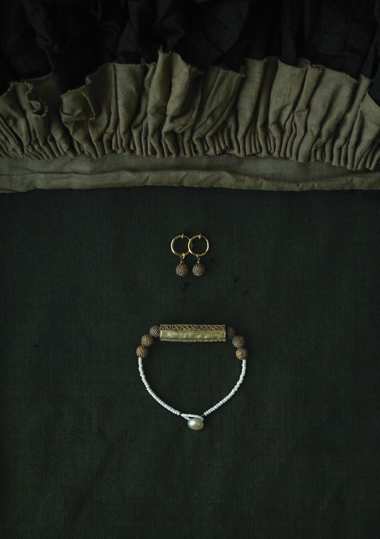 Benin Pierce&Earrings,Benin Bracelet